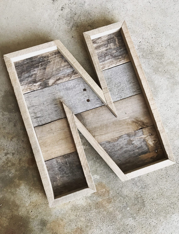 Pallet Letters Farmhouse Reclaimed Wood Marquee Letters A Z