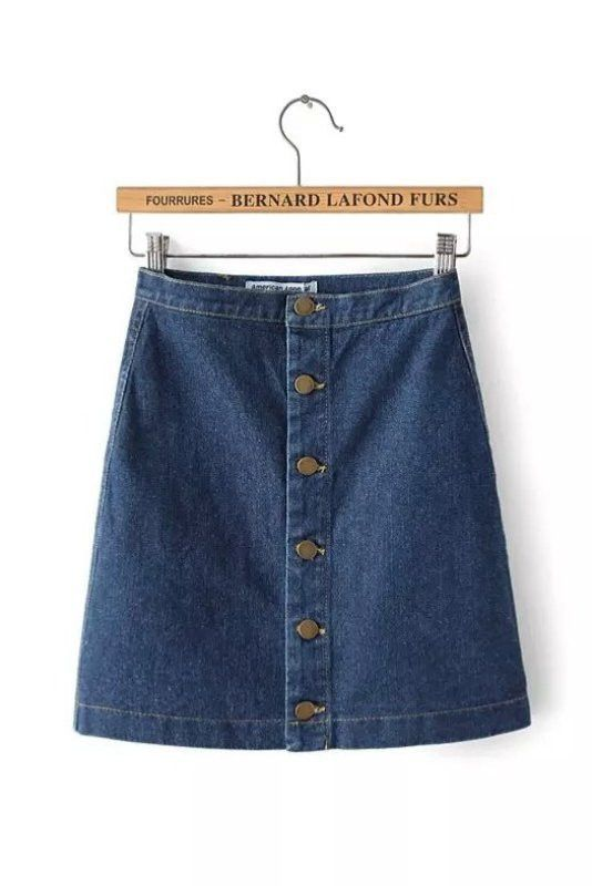 Blue Denim Button Up Mini Skirt | Xmas | Pinterest | Blue denim ...