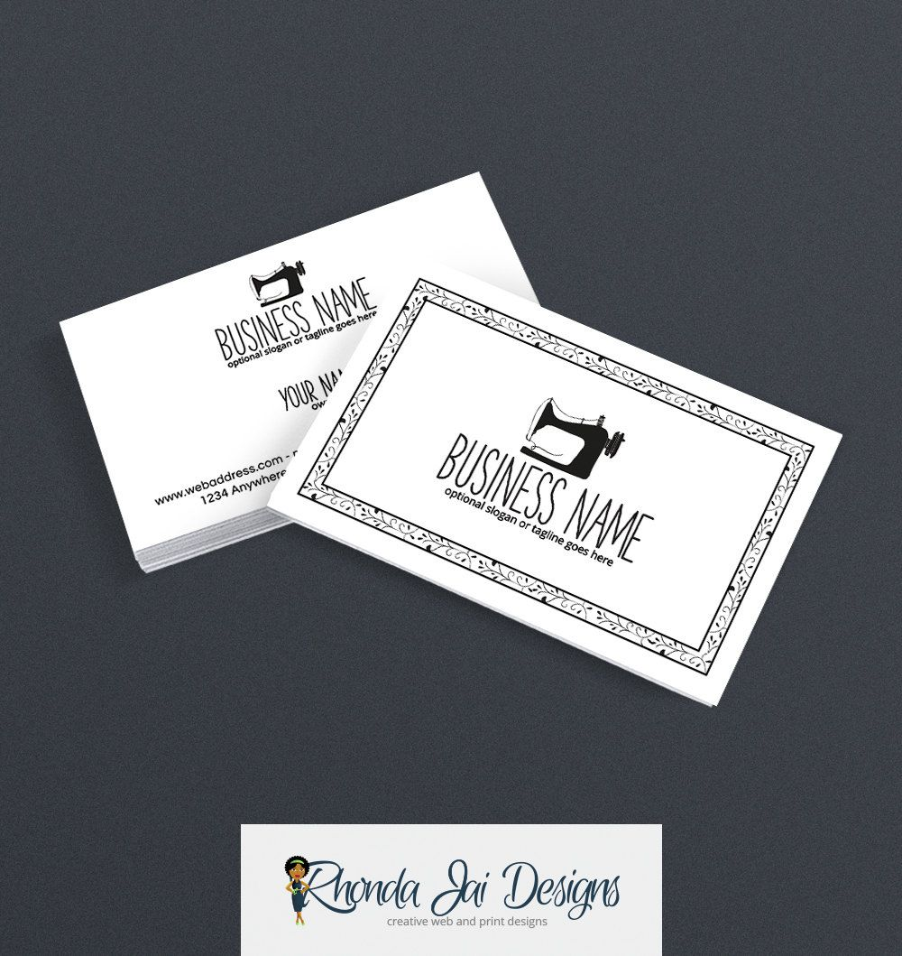 Business Card Designs - Sewing Themed Business Card - Sewing ...