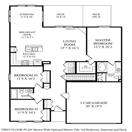 Maronda homes winchester floor plan House design plans