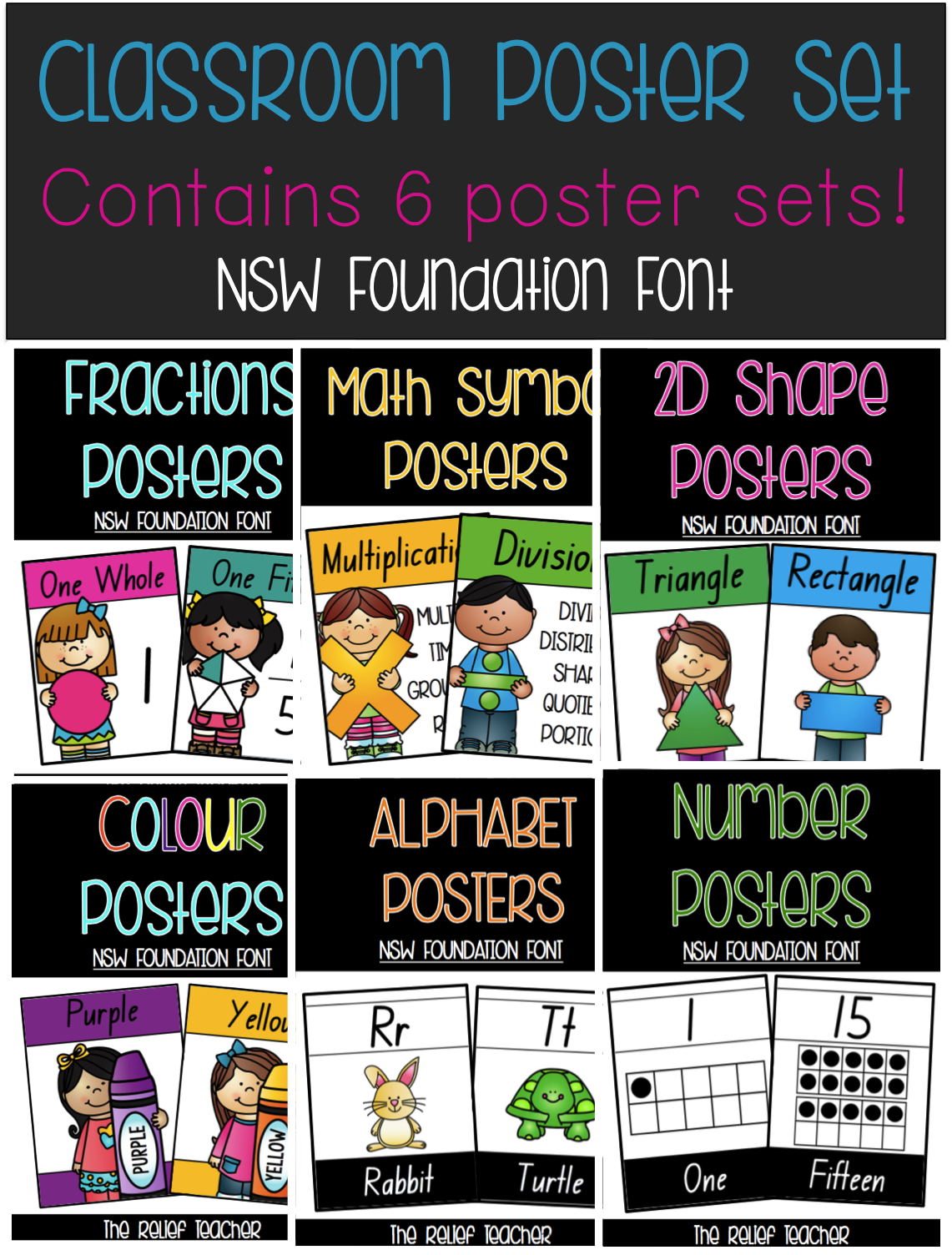 Classroom Poster Pack Contains 6 Poster Sets