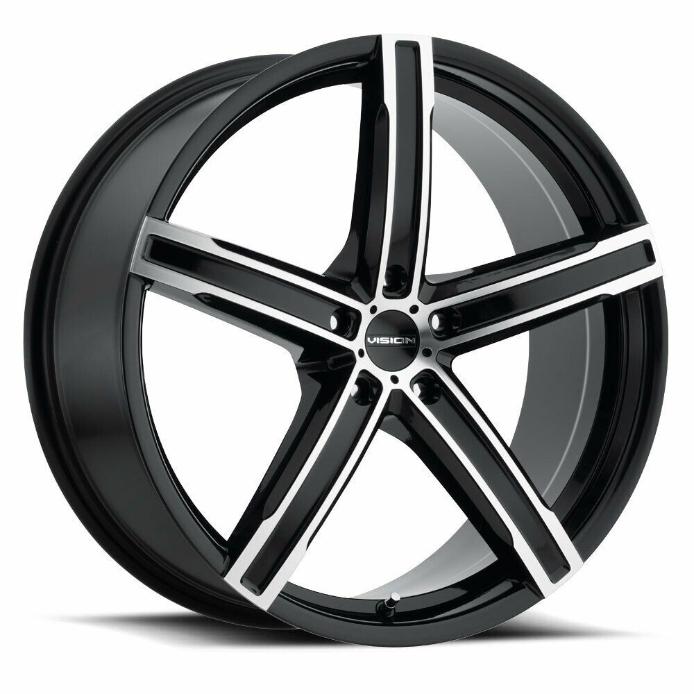 """17"""" Vision 469 Boost Gloss Black Machined Face Wheel 17x7"""