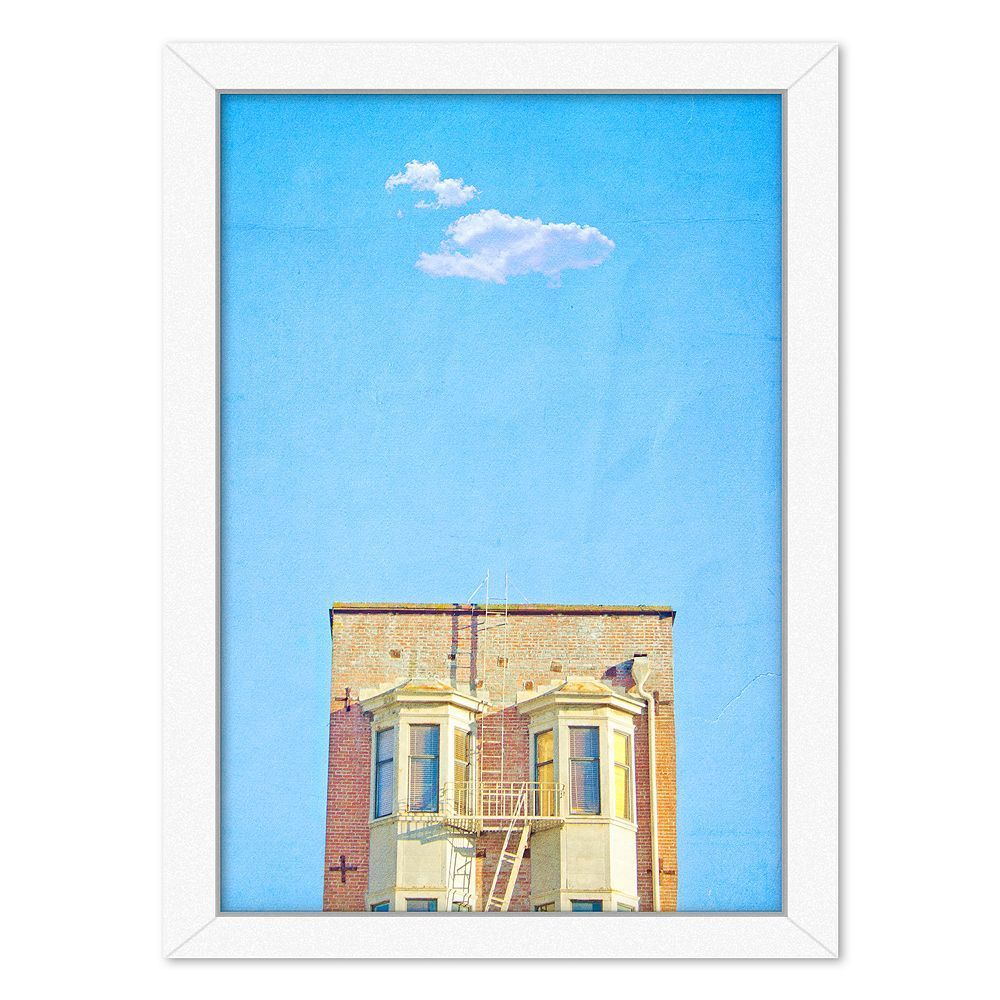 Americanflat lonely skies san francisco framed wall art black