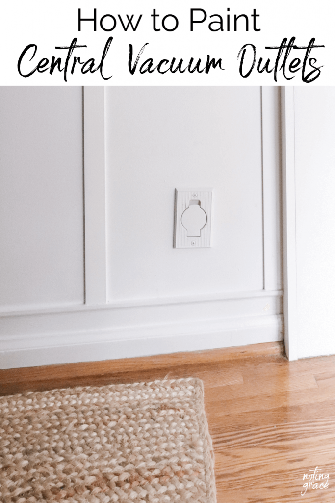How To Easily Paint Central Vac Outlets Outlets Vacuums Painting