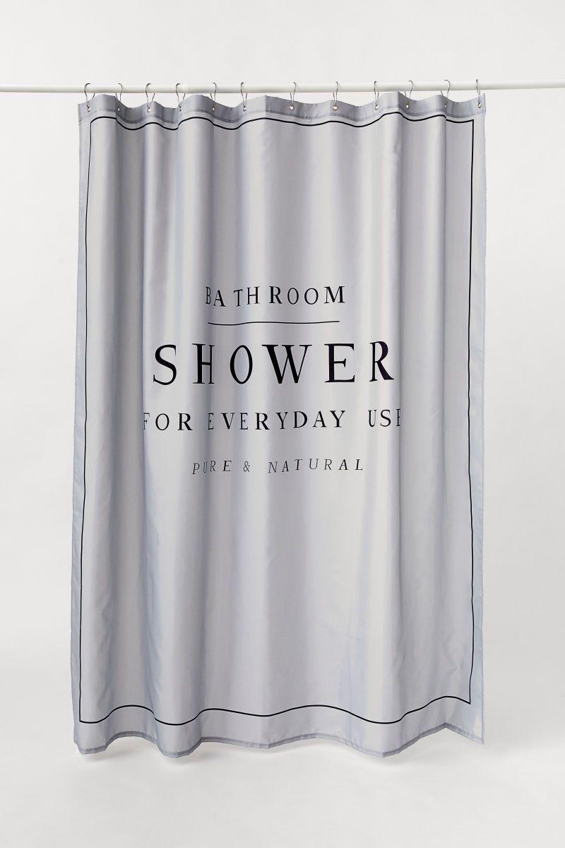 Duschvorhang Mit Textdruck Vorhang Lichter Badezimmer