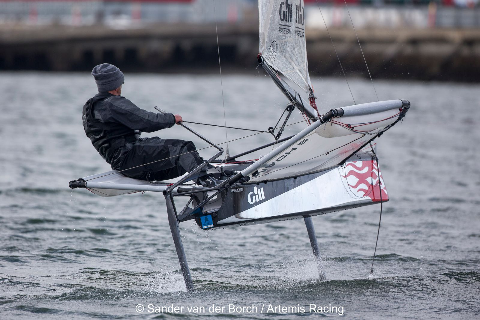 Loick Peyron Foiling On His Moth Dinghy Sailing Sailboat