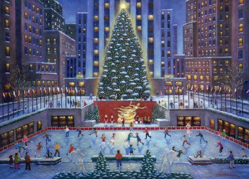 NYC Christmas Puzzle, 1000-Piece $1550 #bestseller I Love Jigsaw
