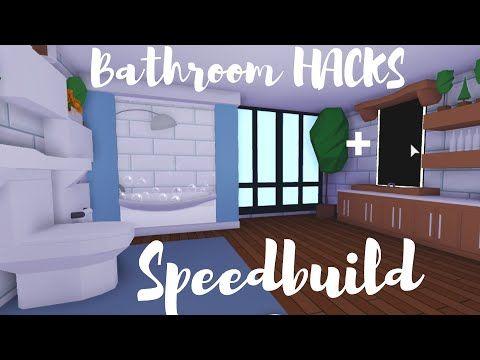 Bathroom Hacks Speedbuild Roblox Adopt Me Youtube In 2020 Cute Room Ideas Cute Bathroom Ideas My Home Design
