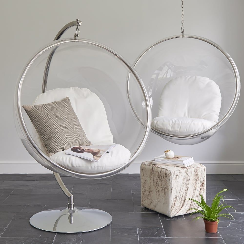 Beautiful Mesmerizing Hanging Chair Ikea For Cozy Home Furniture Ideas: Glass Bubble  Hanging Chair Ikea With Chrome Stand For Home Furniture Ideas