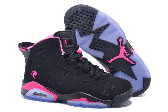 549278bdad6421 ... coupon code for the love of the game nike air jordan retro 6 black pink  gs