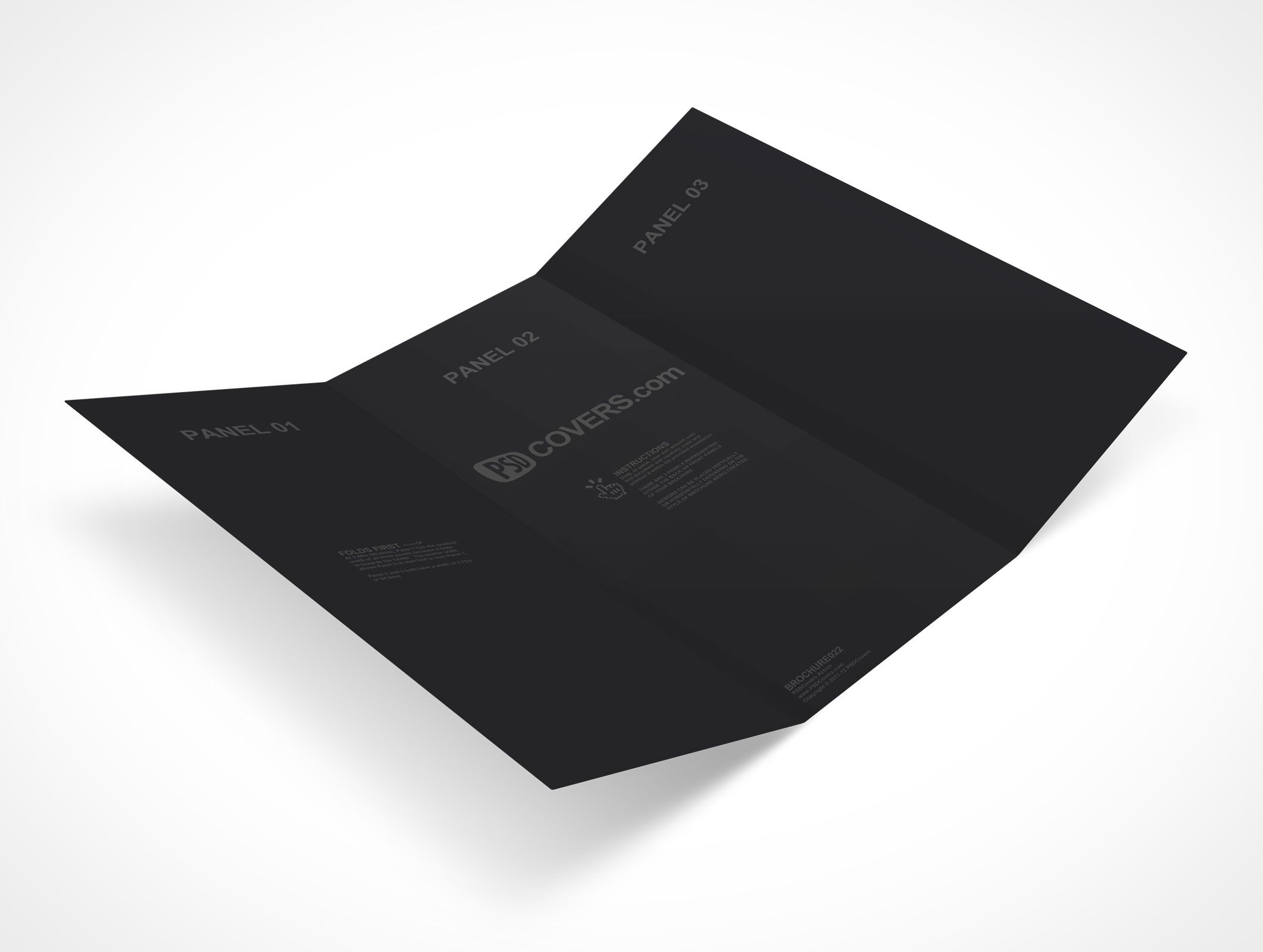 brochure022 is a free mockup template for a letter sized 3 panel