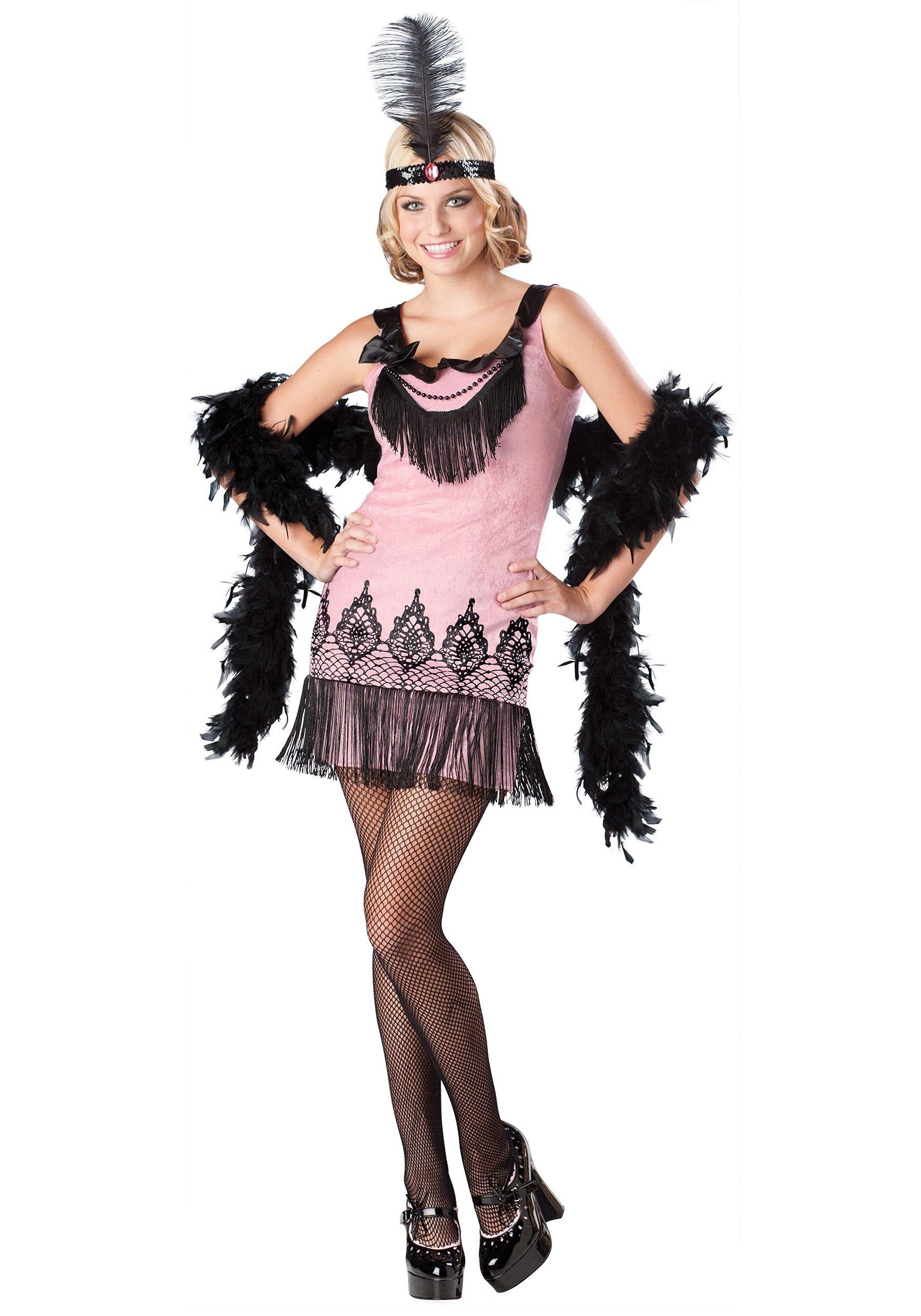 Womens 1920s flapper dress fancy dress costume adult flapper dress - Halloween Costumes For Teenage Girls Flirty Flapper Teen Girls Costume
