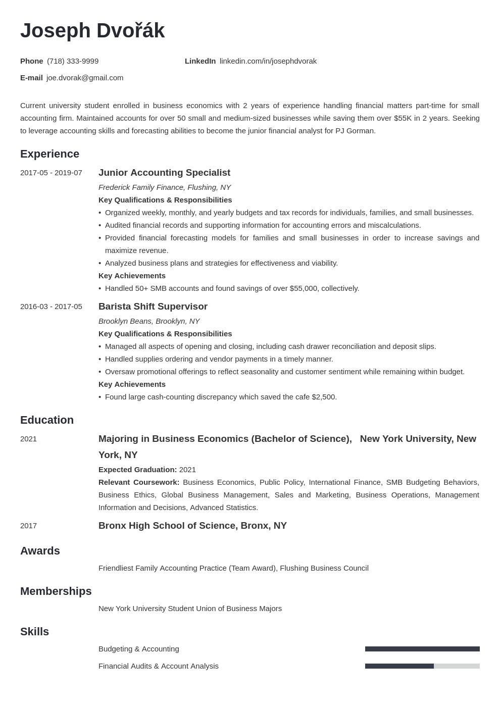 undergraduate resume example template minimo in 2020 Job