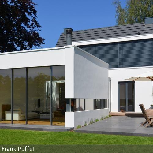 Haus bauen ideen satteldach  Anbau mit neuer Terrasse