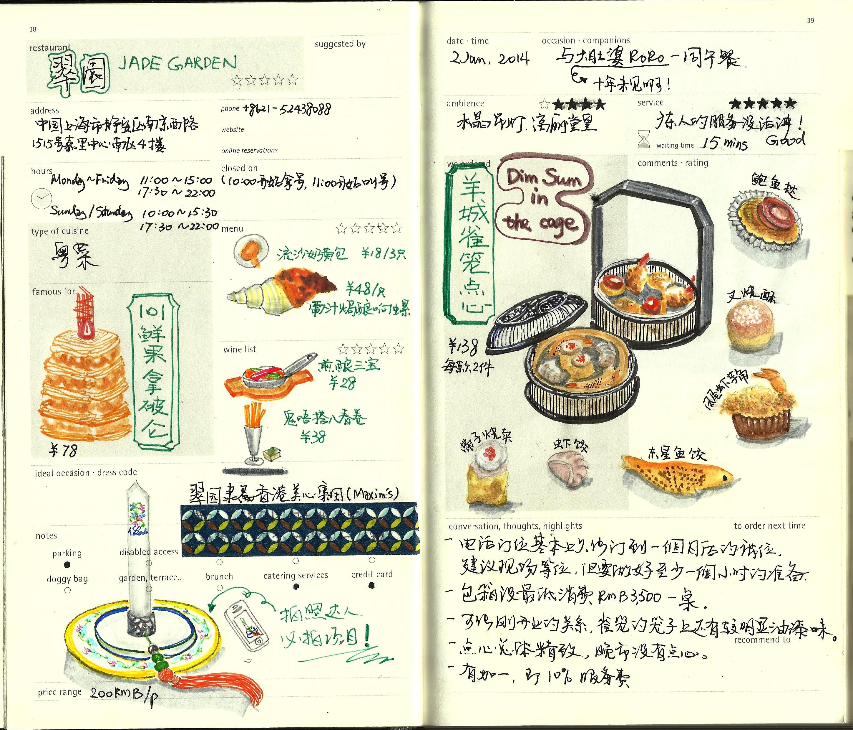 Jade Garden Diner Branding Drawing Sketches Artwork