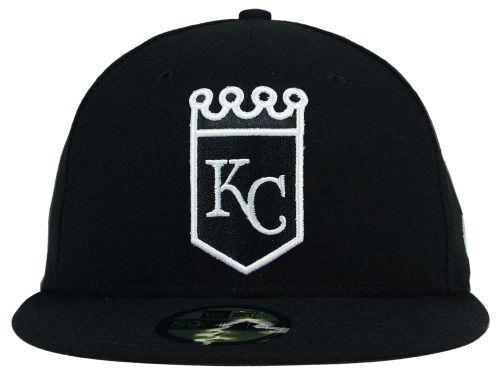 on sale 3b6b6 40229 ... promo code kansas city royals new era mlb black and white fashion 59fifty  cap hats d283d
