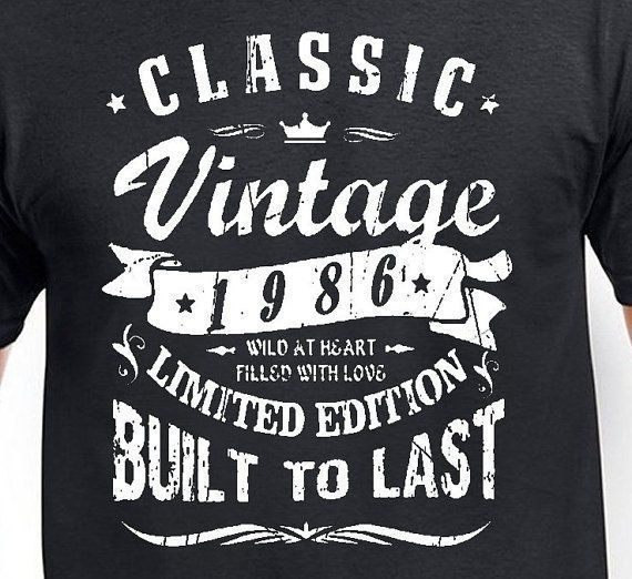 Classic Vintage 1986 Built To Last Limited Edition 31st Birthday T Shirt Funny Handmade Graphictee