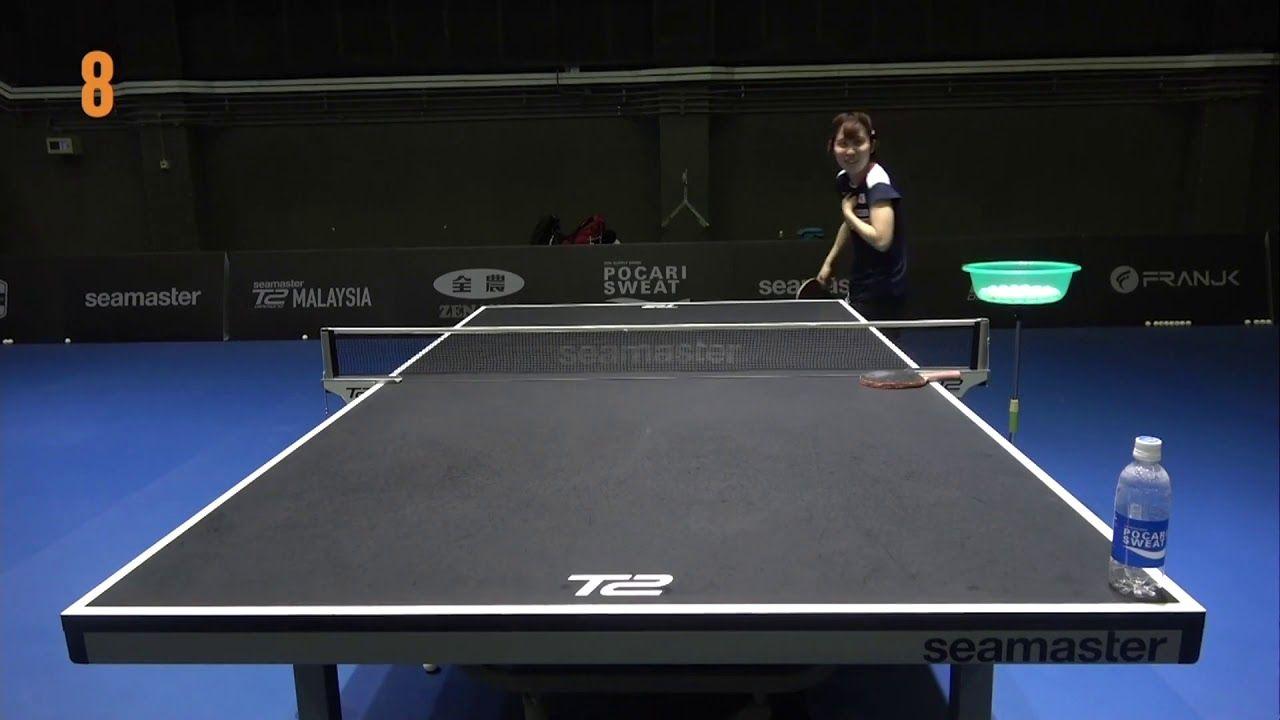 Miu Hirano Gets T2 Diamond Serve Challenge 2019 Challenges Table Tennis Serve