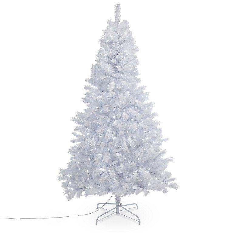 Luxury 7ft White Pre Lit Christmas Tree B Q Christmas Tree Pre Lit Christmas Tree Diy Christmas Tree