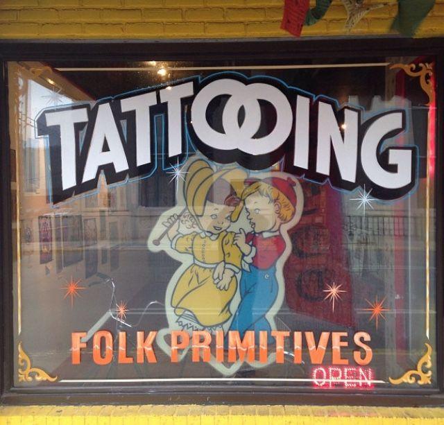 #Tattooshop front window