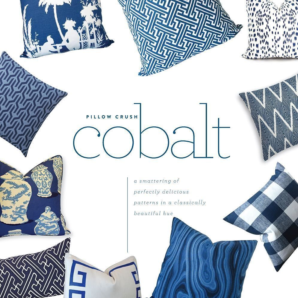 Today at the blog a roundup of my favorite cobalt blue pillows including some beauties by @thibaut_1886 @serenaandlily @danagibsondesign & more! @liketoknow.it www.liketk.it/2bRfh #liketkit http://ift.tt/1JhoRaY