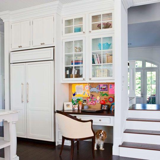 Kitchen Office Area Home Office Design Tiny Home Office Kitchen Desks