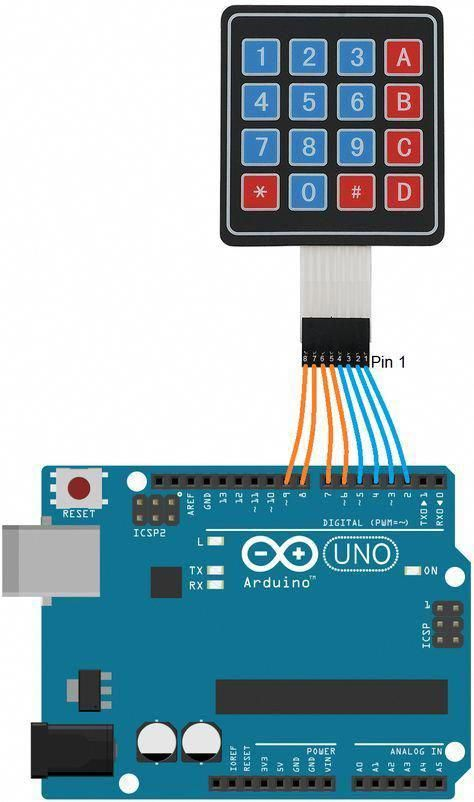 Learn To Interface 4x4 Keypad Matrix To Arduino With