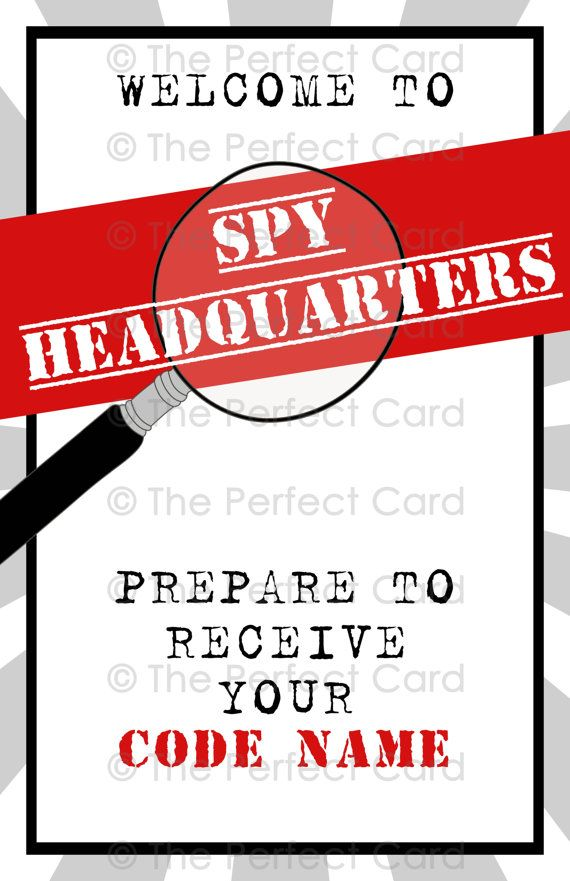 Top Secret Printable Party Poster © The Perfect Card www ...
