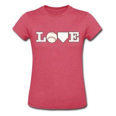 Love Baseball T-Shirt | Spreadshirt | ID: 12252508