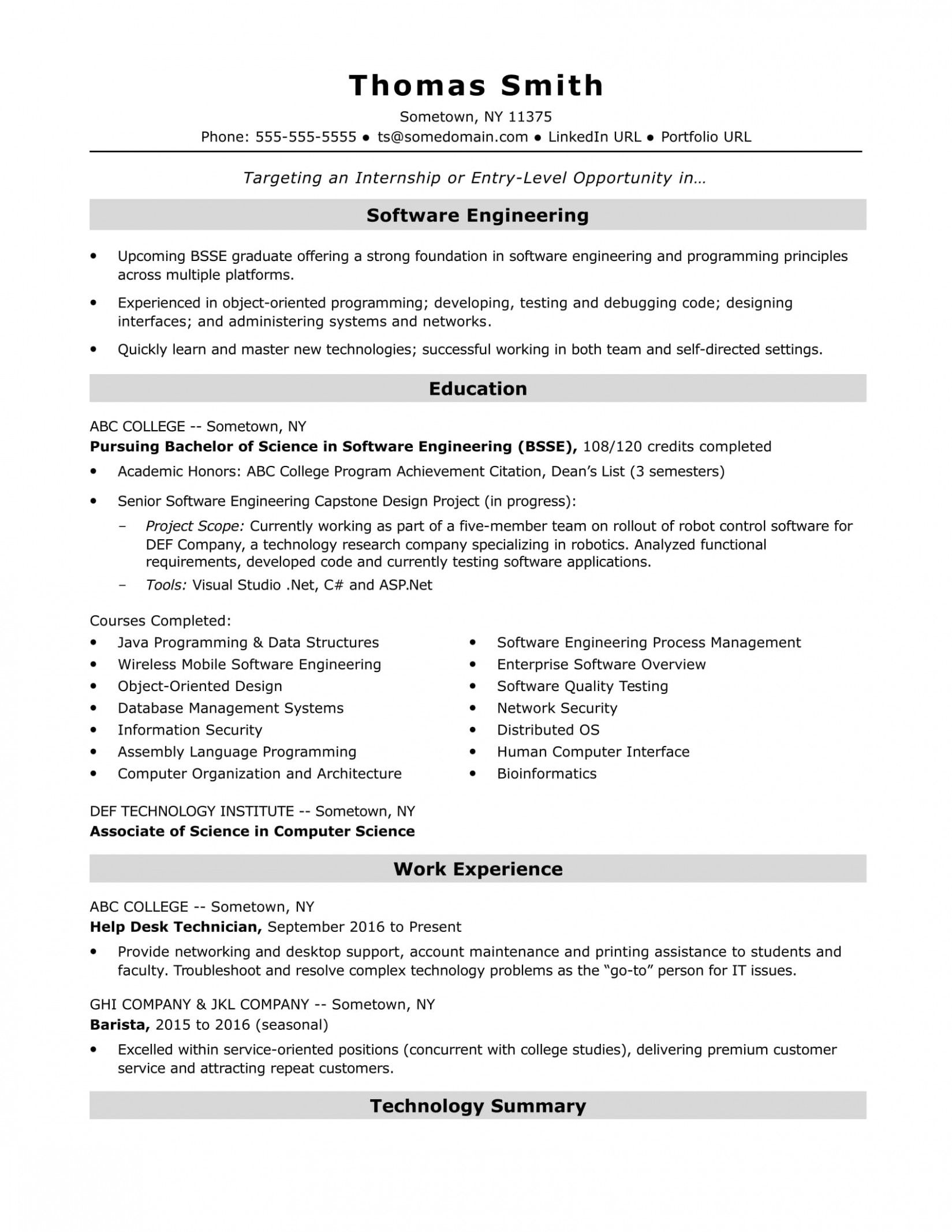 10 Software Engineer Resume Examples Di 2020