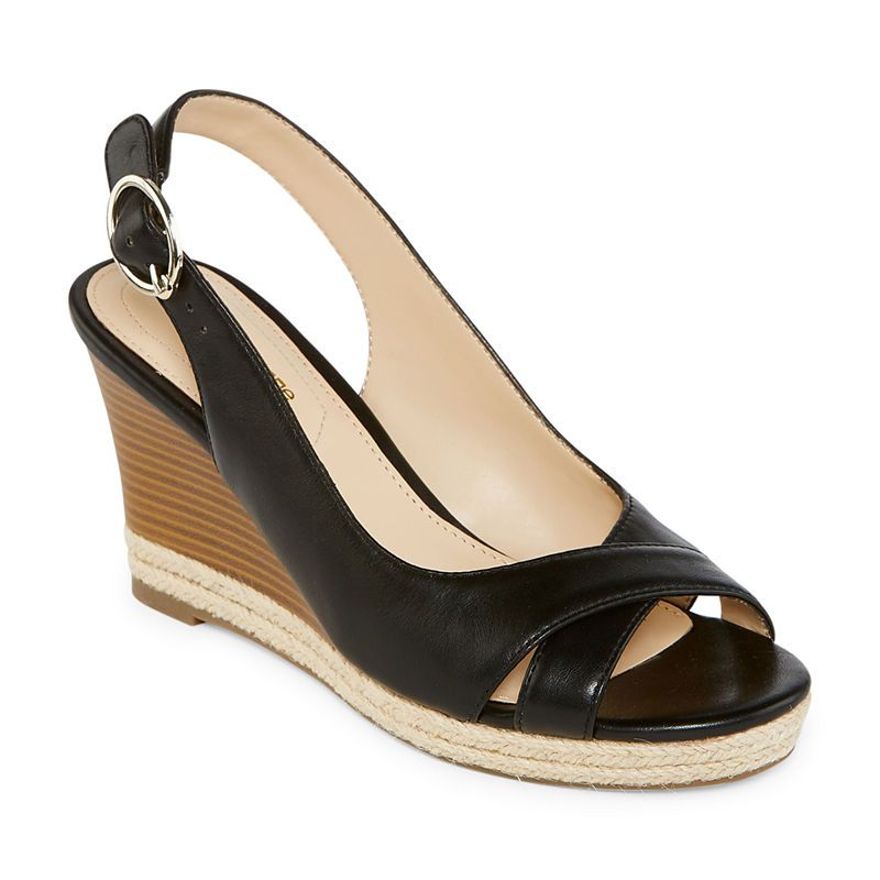 Liz Claiborne Womens Pomona Wedge Sandals - JCPenney