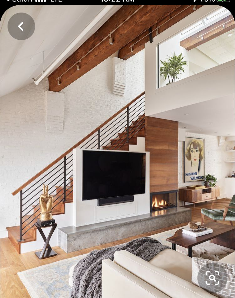 Pin By Faviana On Ross House In 2020 Staircase In Living Room Stairs In Living Room Home Stairs Design #staircase #in #living #room #ideas