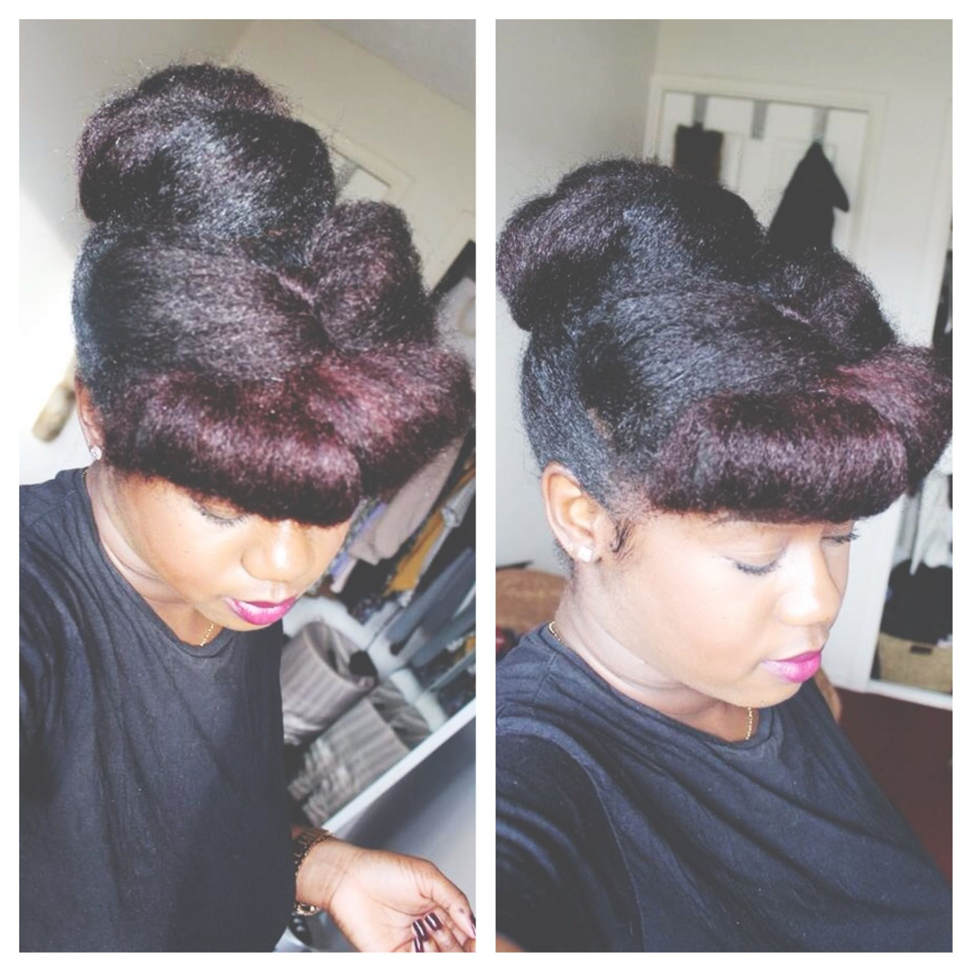Super easy updo I created natural hair updo for natural hair