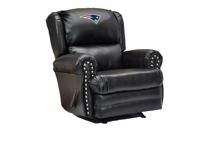 New England Patriots Coach Leather Recliner