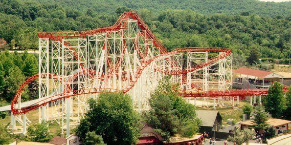 Ninja Six Flags Over Mid America St Louis Eureka Missouri Usa Night Sky Photos Travel Around The World Roller Coaster