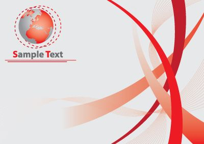 Graphics Red Vector World With Curves Background
