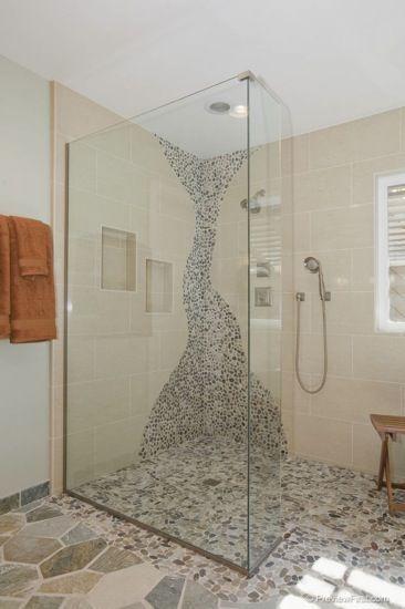 Dream Bathrooms · River Shower   Pebble Tile ...