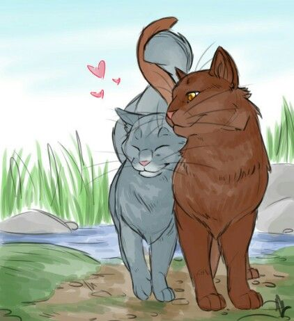 bluestar and oakheart warrior cats blaustern katzen