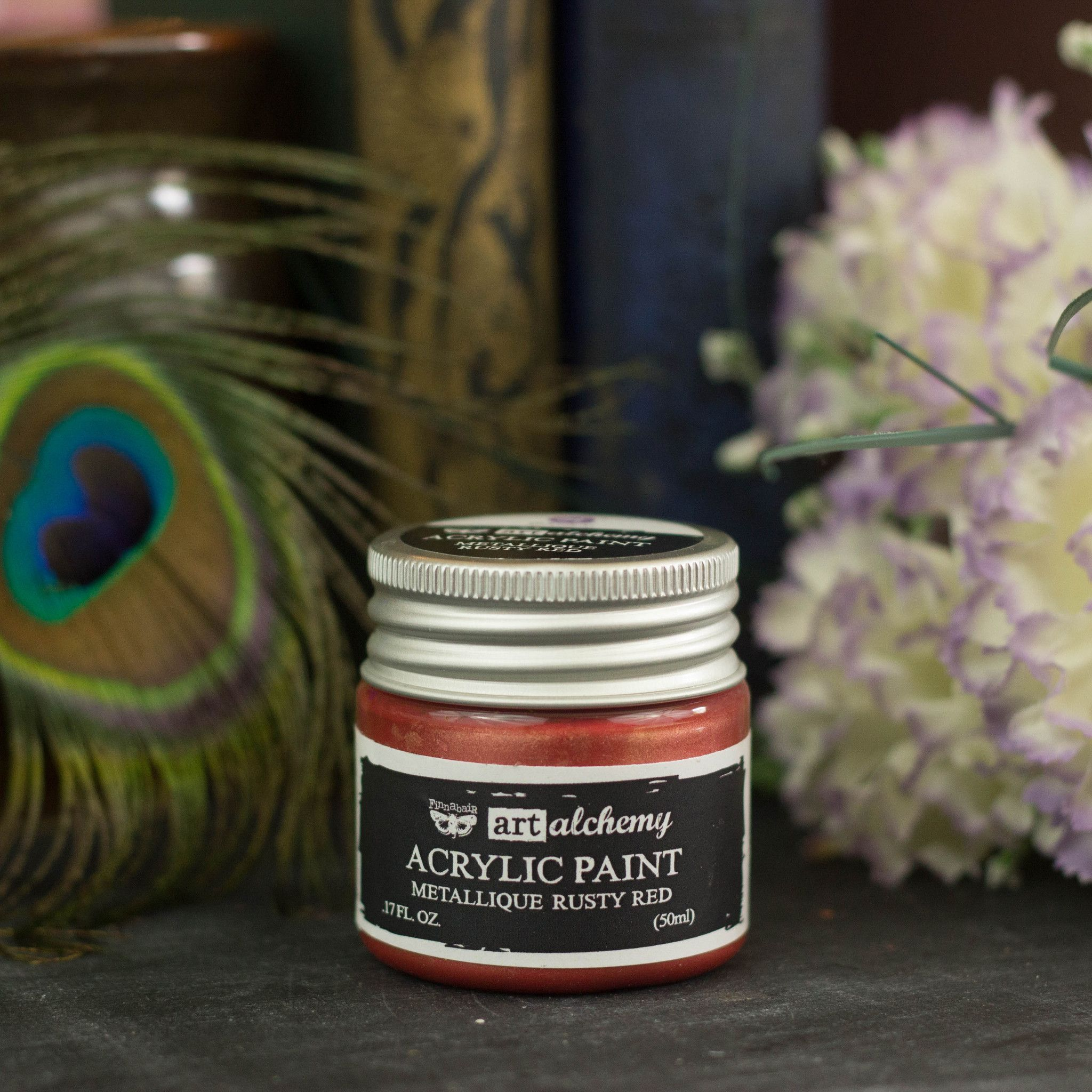 Rusty Red Art Alchemy Acrylic Paint For Metallic Shine