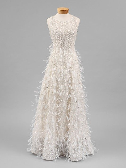Oscar de la Renta for Balmain Spring 2001.  new obsession: looking at the collections on the met museum's website.