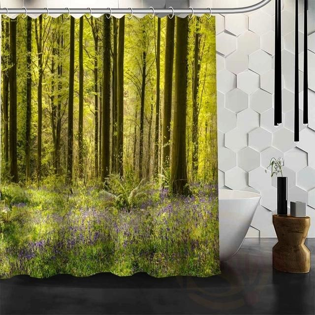 Forest Landscapes Nature Shower Curtain Waterproof 25 patterns WJY#25