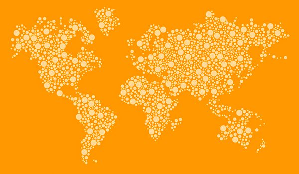 Free] Dotted World Map Vector Design Template on Behance | Places I ...