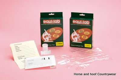Equi-Lab Worm Count Kit The packs contain specimen pots gloves pre-paid envelopes easy to understand instructions and vouchers for a full laboratory