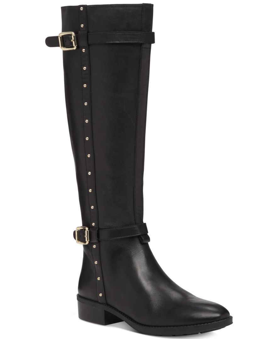 1e904557d0d Vince Camuto Preslen Studded Riding Boots   boots   Riding boots ...