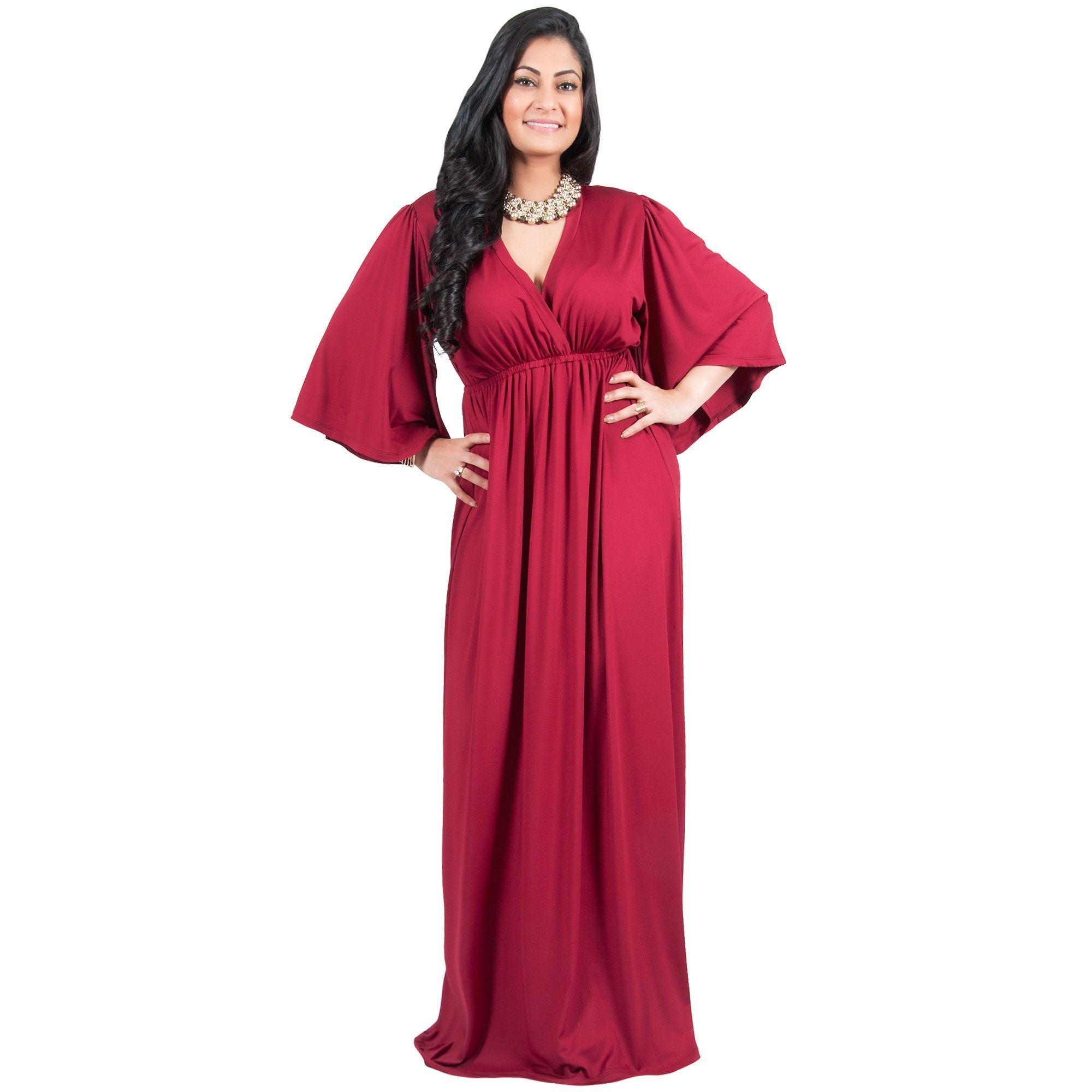 Evening dresses plus size kimono