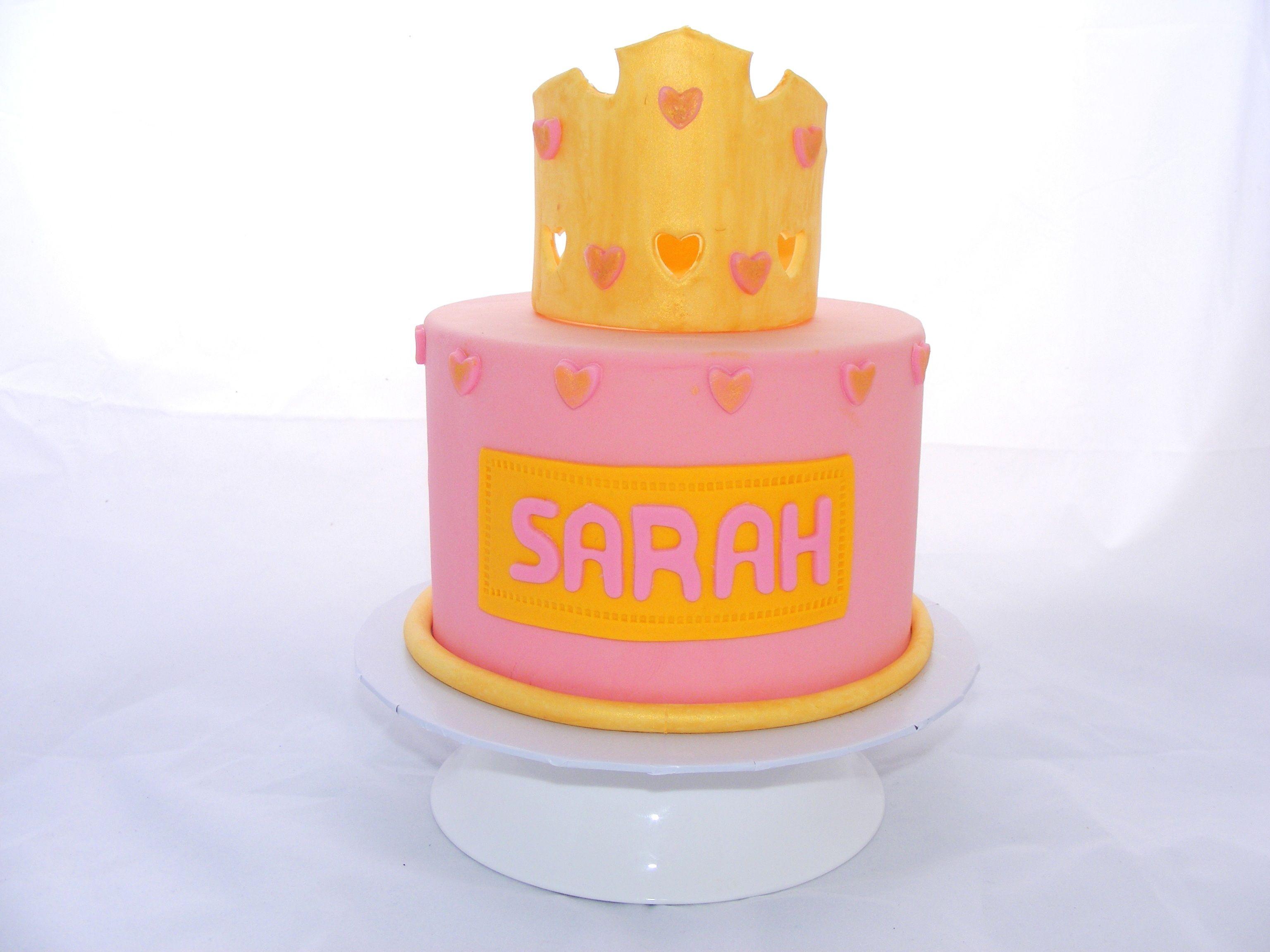 Fondant Tiara Cake by My Cake Place http://www.mycakeplace.com.au/