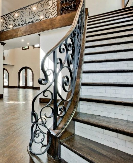 28 Best Stairway Decorating Ideas And Designs For 2020: Tile Backsplash On Stairs In 2020