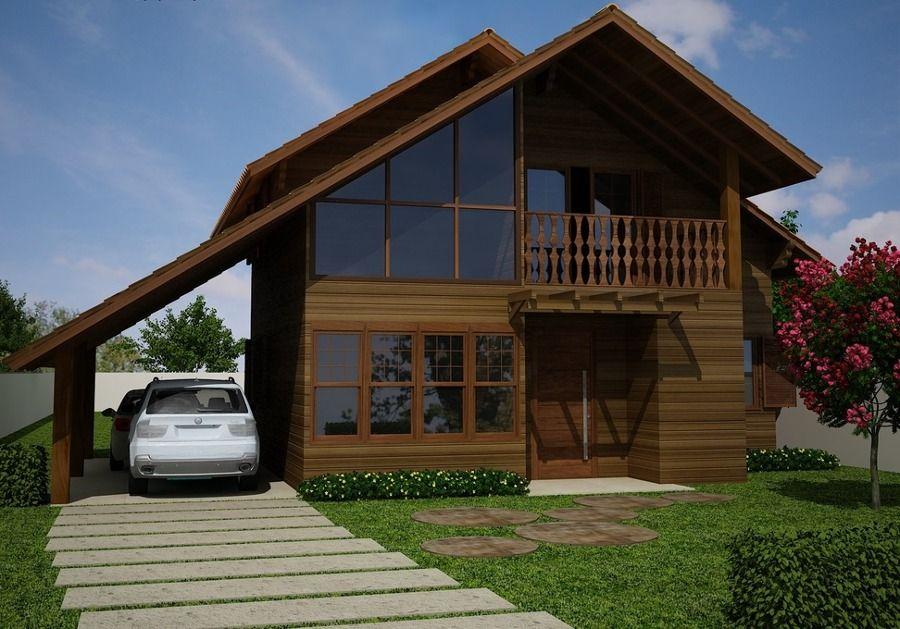 Casa de Madeira No Piauí Ideias Construção Casas Pré-fabricadas