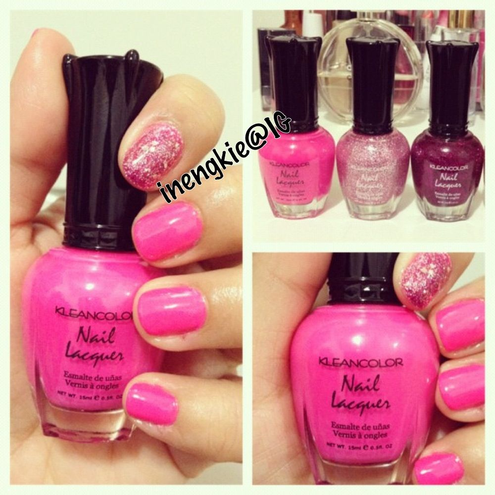 Neon Pink, Diamond Fuschia, And Hot Stuff By Kleancolor