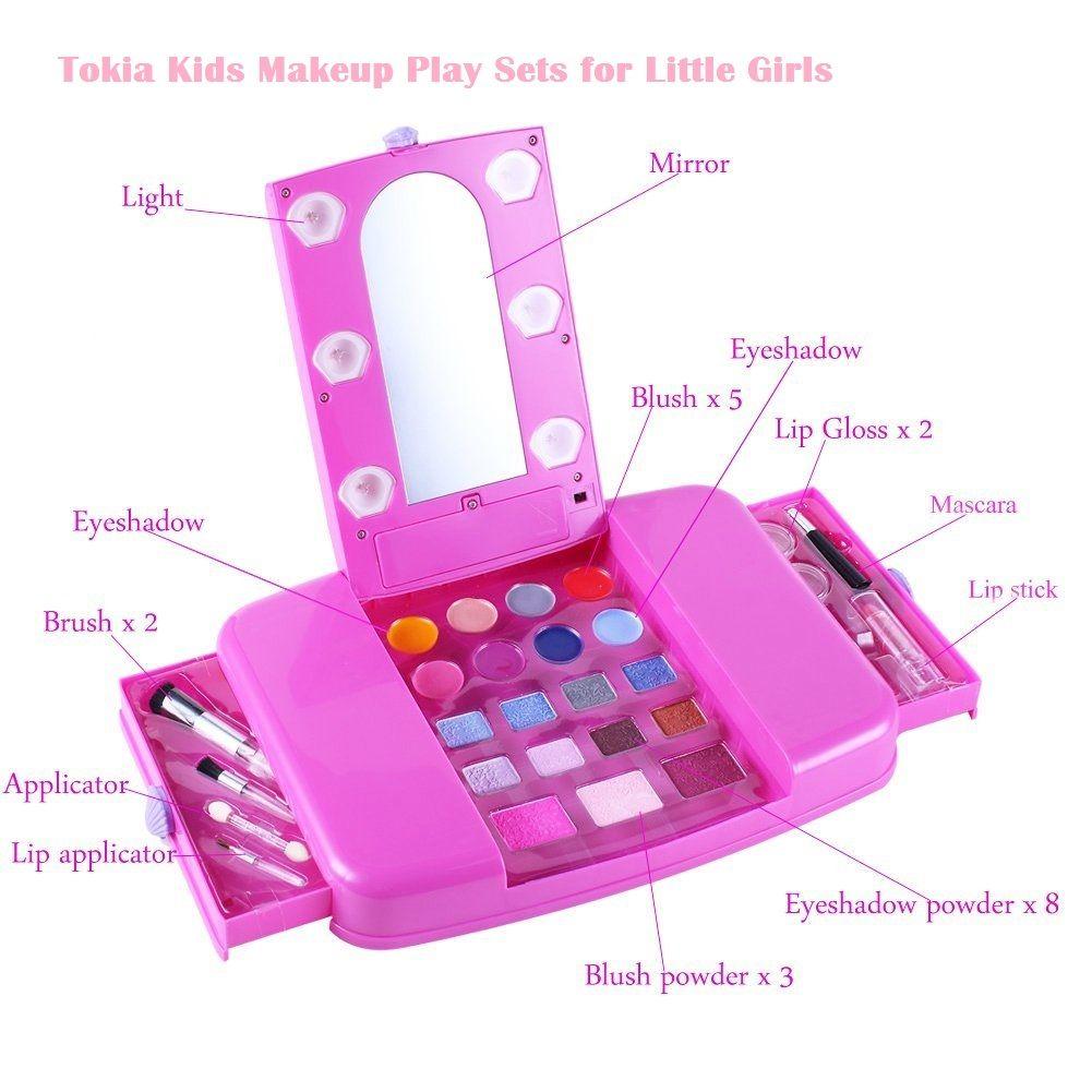 Tokia Kids Makeup Play Sets For Little Girls | safe makeup for kids